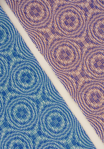 Blueberry Pi Scarf 2 different weft colors