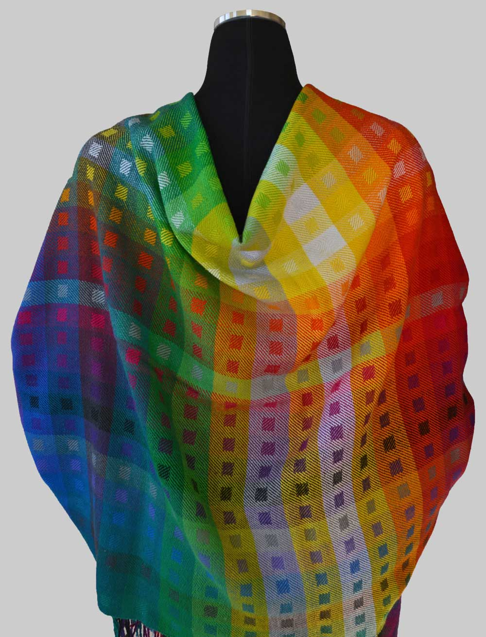 Tubular Spectrum Plus Shawl, Back View