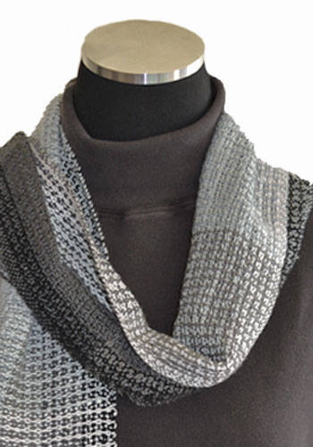 Gray Matter Scarf made from 5/2 cotton