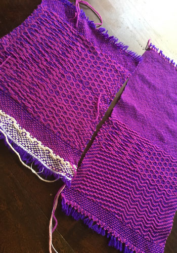 Wool Waulking Project samples