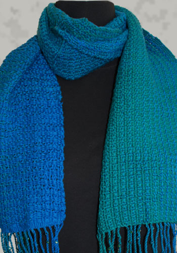 Blue-Green Chameleon Lace Scarf